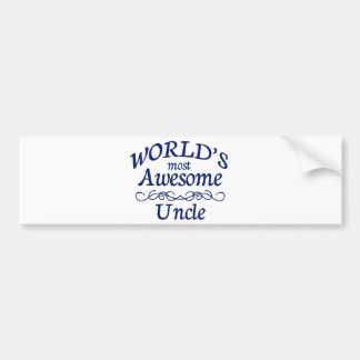World's Most Awesome Uncle Bumper Sticker