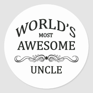 World's Most Awesome Uncle Classic Round Sticker