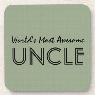 World's Most Awesome UNCLE Clay Squares Pattern Coaster
