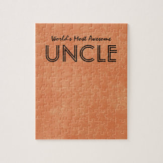 Worlds Most Awesome Uncle Home Gift Item Jigsaw Puzzle