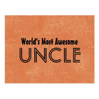Worlds Most Awesome Uncle Home Gift Item Postcard
