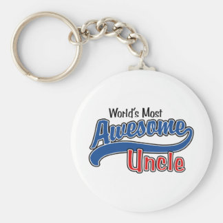 World's Most Awesome Uncle Keychain