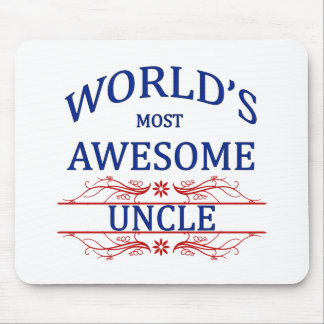 World's Most Awesome Uncle Mouse Pad