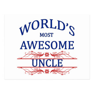 World's Most Awesome Uncle Postcard