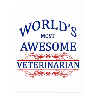 World's Most Awesome Veterinarian Postcard