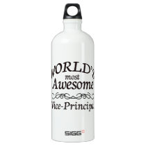 World's Most Awesome Vice Principal Aluminum Water Bottle