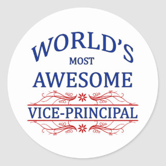 World's Most Awesome Vice-Principal Classic Round Sticker