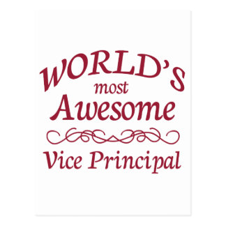 World's Most Awesome Vice Principal Postcard