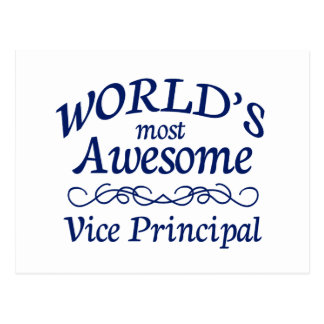 World's Most Awesome Vice Principal Postcard