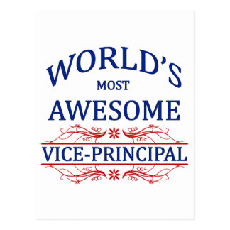 World's Most Awesome Vice-Principal Postcard