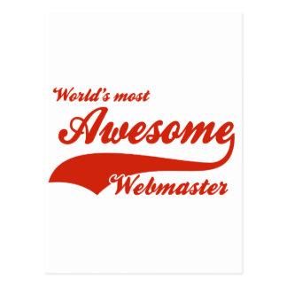 World's Most Awesome webmaster Postcard