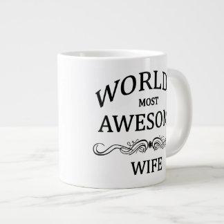 World's Most Awesome Wife 20 Oz Large Ceramic Coffee Mug