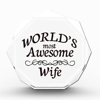 World's Most Awesome Wife Acrylic Award