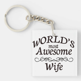 World's Most Awesome Wife Keychain