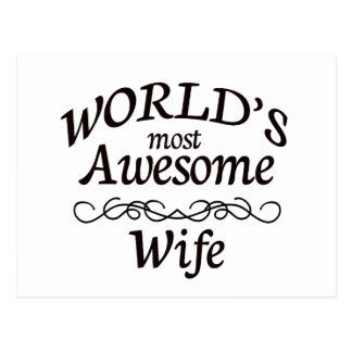 World's Most Awesome Wife Postcard
