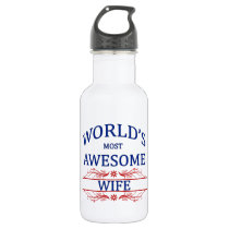 World's Most Awesome Wife Water Bottle