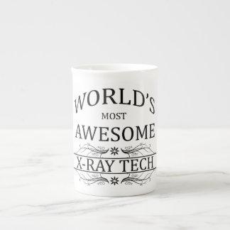 World's Most Awesome X-Ray Tech Bone China Mugs