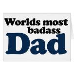 Worlds Most Badass Dad Greeting Card