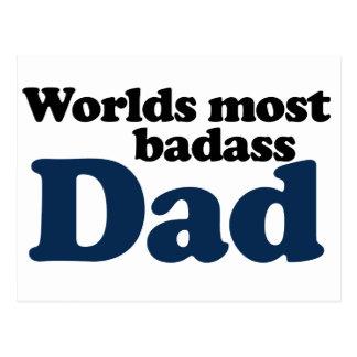 Worlds Most Badass Dad Postcard