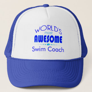 World's Most Best Swim Coach Swimming Instructor Trucker Hat