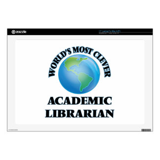 """World's Most Clever Academic Librarian 17"""" Laptop Skins"""