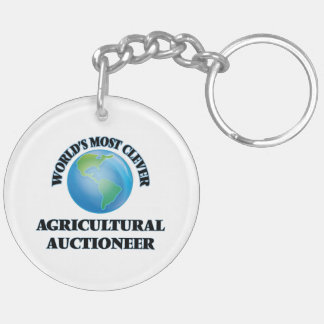 World's Most Clever Agricultural Auctioneer Key Chain