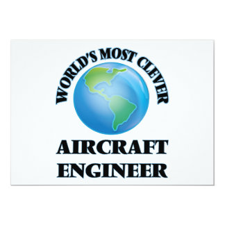 World's Most Clever Aircraft Engineer 5x7 Paper Invitation Card