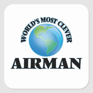 World's Most Clever Airman Square Sticker
