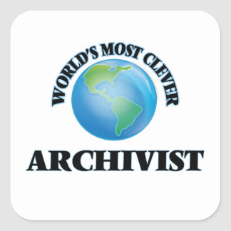 World's Most Clever Archivist Square Sticker