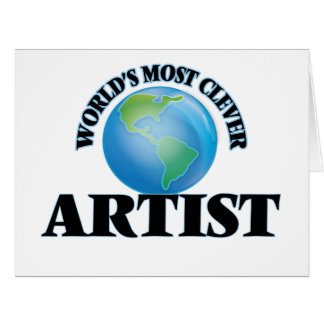 World's Most Clever Artist Large Greeting Card