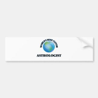 World's Most Clever Astrologist Car Bumper Sticker