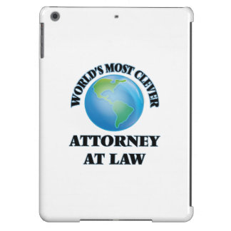 World's Most Clever Attorney At Law iPad Air Cover
