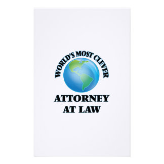 World's Most Clever Attorney At Law Stationery