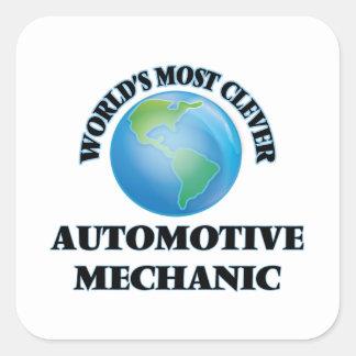 World's Most Clever Automotive Mechanic Square Sticker