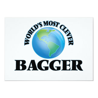 World's Most Clever Bagger 5x7 Paper Invitation Card