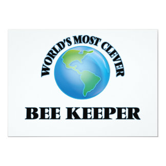 """World's Most Clever Bee Keeper 5"""" X 7"""" Invitation Card"""