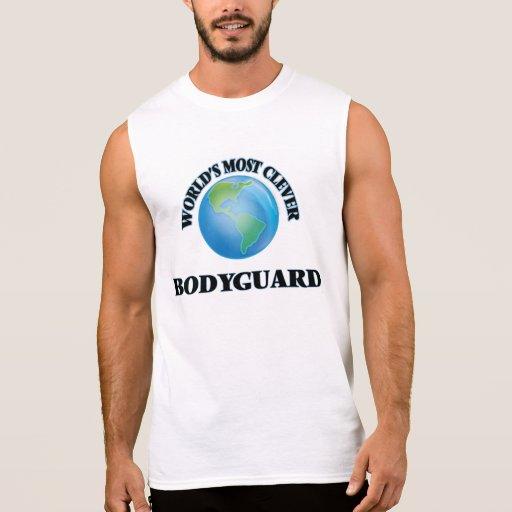 World's Most Clever Bodyguard Sleeveless T-shirts Tank Tops, Tanktops Shirts