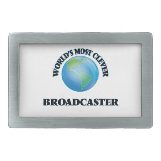 World's Most Clever Broadcaster Rectangular Belt Buckle