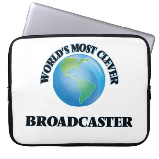 World's Most Clever Broadcaster Laptop Computer Sleeves