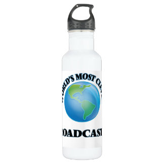 World's Most Clever Broadcaster 24oz Water Bottle
