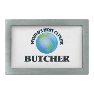 World's Most Clever Butcher Rectangular Belt Buckles