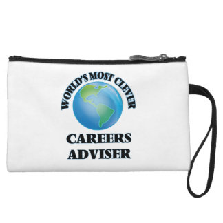 World's Most Clever Careers Adviser Wristlet Clutches