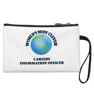 World's Most Clever Careers Information Officer Wristlet Clutches