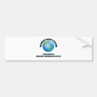World's Most Clever Children's Resort Representati Bumper Stickers