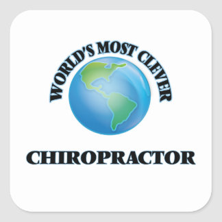 World's Most Clever Chiropractor Square Sticker