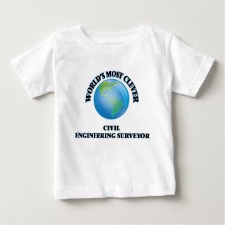 World's Most Clever Civil Engineering Surveyor Infant T-shirt