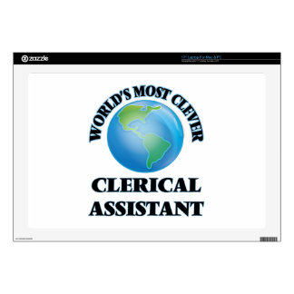 """World's Most Clever Clerical Assistant 17"""" Laptop Skins"""