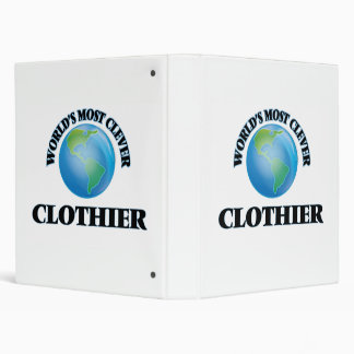 World's Most Clever Clothier 3 Ring Binders