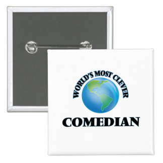 World's Most Clever Comedian Button