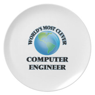 World's Most Clever Computer Engineer Dinner Plate